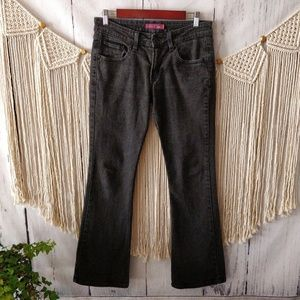 Levi's 518 Black Super Low Bootcut Jeans 7 M
